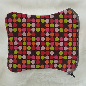 BYO padded laptop bag in multicolored dot